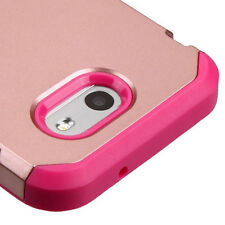 For Samsung Galaxy J3 Emerge / J3 2017 - HYBRID ARMOR PHONE CASE ROSE GOLD PINK
