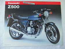 Kawasaki moto z500 Z 500 pubblicita brochure depliant motorcycles prospect