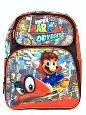 "Odyssey Super Mario Large School Backpack 16"" Boys Book Bag -Odyssey"