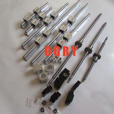 3 SBR20/16 rail sets +3 anti-backlash ballscrews RM1605+3 BK/BF12 +3pcs couplers