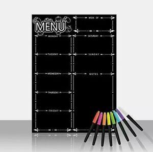 Magnetic Dry Eraser Calendar - Weekly Menu Meal Planner For Fridge **LOW PRICE**