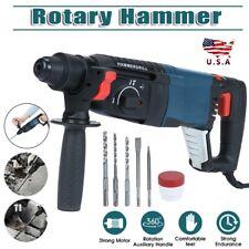 800w Electric Bulldog Max Rotary Hammer Drill Breaker Sds Plus Bit Chisel Set Us