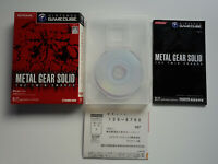 METAL GEAR SOLID THE TWIN SNAKES + Registration Card Nintendo Gamecube GC JAPAN