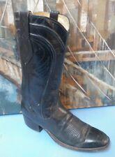 DAN POST Black Leather Cowboy Boots Style 6690 Womens Size 8 B