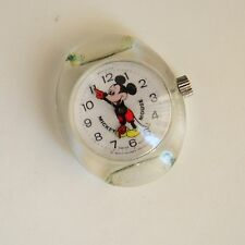 Vintage Walt Disney Mickey Mouse Swiss Made Wind Up Watch For Parts