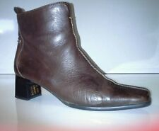 Riva nut brown leather ankle boots size 5
