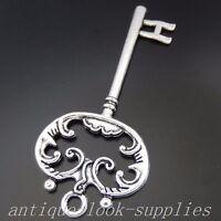 50368 Vintage Silver Alloy Key Shaped Crafts Pendant Charms Decoration 16pcs