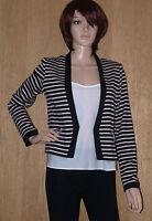 New Ladies EX Dorothy Perkins Stripped Beige Black  Blazer Jacket RRP £40