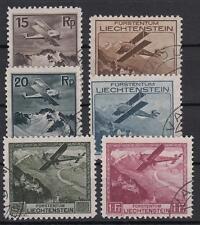 Liechtenstein 108/113 gestempelt (320 Michel)