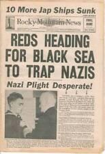 Rocky Mountain News, Final Home Edition, Jan 9, 1944