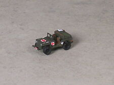 N Scale Military Medic Jeep with litter.