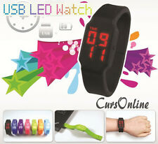 OROLOGIO LED Usb Pen Drive Memory Card Tf Micro Sd Batteria Ricar. Windows e Mac