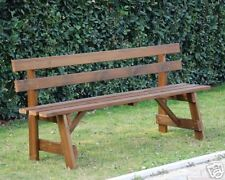 Panchina in legno da giardino 4 posti con schienale
