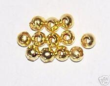 1000pcs 2.4mm Round Metal Iron Spacer Beads - Bright Gold