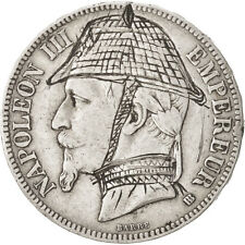 [#14524] Second Empire, 5 Francs satirique Napoléon III avec un casque prussien