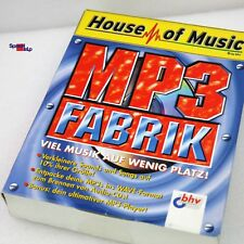 MP3 FABRIK HOUSE OF MUSIC FOR WINDOWS 95 98 PROGRAMM CD WAV MP3 FORMAT NEU!