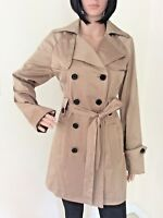 NWT Giorgio Italia Women's double breasted, belted Trench Coat, choose color