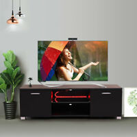 "47"" TV Stand Cabinet Console w/LED Light Shelves Living Room Storage Furniture"