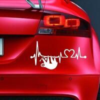 SLOTH HEARTBEAT Sticker Funny Car Window van Bumper 4x4 JDM Novelty Vinyl Decal