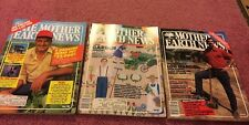 Mother Earth News Magazine, Three Issues From 1986, Great Condition!