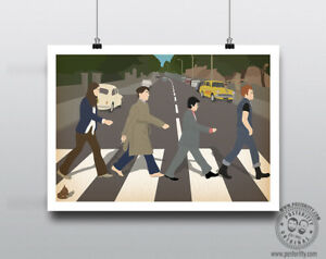THE YOUNG ONES Abbey Road Comedy print Minimal Poster Posteritty Mayall Rik Vyv