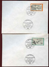 West Germany 1972 Tourism FDC First Day Cover Set #C34711