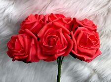 Coral De Espuma De Polietileno De 6 7cm rosas de calidad superior Flores de Boda de Cabeza Decoraciones De Mesa