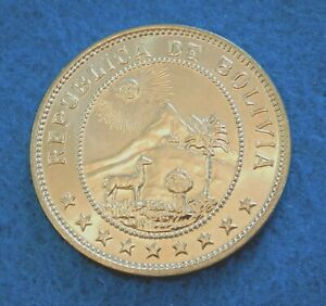 1939 Bolivia 50 Centavos - Gorgeous UNC Coin - Direct from roll - See PICS