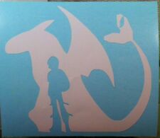 Hiccup and Toothless Vinyl Decal