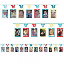Mickey Mouse Fun to Be One 1st Birthday Photo Garland
