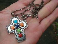 Custom Don Lucas High Desert Sterling Silver Cross Pendant