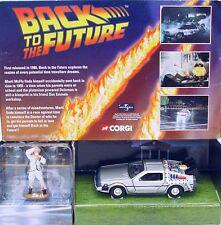 Corgi Toys 1:36 BACK TO THE FUTURE DeLOREAN + DOC BROWN Movie Car CC05501 MIB`01