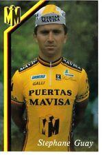 CYCLISME carte cycliste STEPHANE GUAY équipe PUERTAS MAVISA