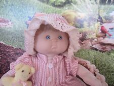 Vintage Baby Tender Doll Russ Stuffed Toy Blue Eyes Curly Blonde Hair Girl