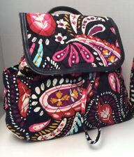Vera Bradley Fashion Backpack Travel Purse Bag  Painted Paisley NWT