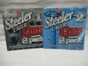 STEELER LAGER PRESENTS Q107 CLASSIC ROCK 6 PACK VOLUME 1 AND VOLUME 2 SEALED NEW