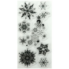 """Inkadinkado Clear Stamps 4""""X8""""-Snowflakes A-Plenty"""
