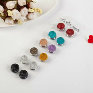 6 x Pinless Magnetic Pins for Hijab Scarves   Magnet Button / Brooch [Glassic]