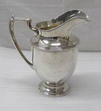 "Vintage M. Fred Hirsch Co. Large Water Pitcher 402 Sterling Silver 10 1/8"" 704g"