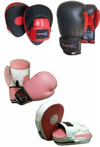 Focus pads and Boxing Gloves set Hook & Jab Punching kick boxing MMA
