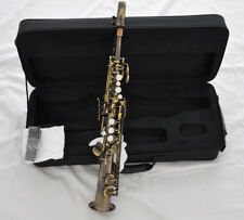 Sopranino Saxophone Professional Antique Bronze Eb Sax Low B High E with case