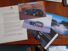Porsche Cayenne Press Information brochure c2003 4 colour photos