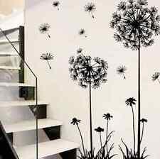 Removable Wall Sticker Decal Vinyl Art Black Dandelion DIY Room Home Mural FR