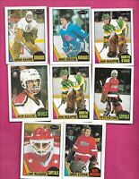 1987-88 OPC NHL GOALIE  PLAYERS CARD LOT (INV# C4877)