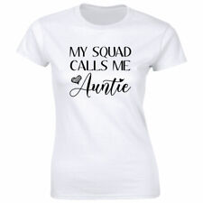 My Squad Calls Me Auntie with Heart Image T-Shirt for Women