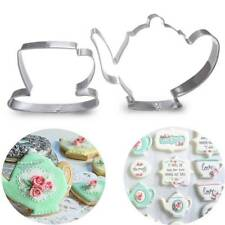 2Teapot Tea Cup Set Cookie Cutter Stainless Steel Mouds Metal Fondant Cake Mould