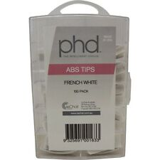 PROFESSIONAL PHD ABS TIPS  French White 100 PACK ass. #1-10 for acylic nails USA