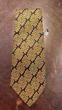 Vintage Black Gold Wide Lds Mens Suit Necktie Free Shipping