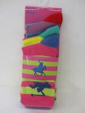 Ladies Unbranded Multi Coloured Striped Socks 3 in a Pack 41b263 Red Green Blue