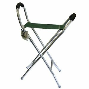 Pyramid Lightweight Strong Chair Walking Stick Folding Travel Scissor Seat Stool